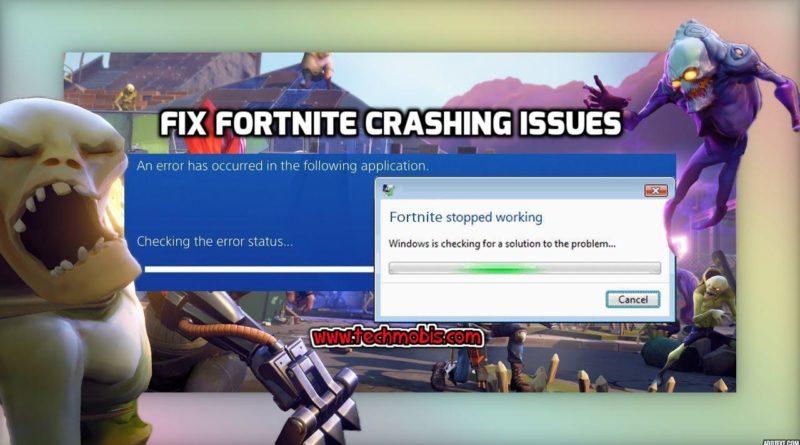 fortnite keeps crashing pc