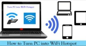 turn pc into wifi hotspot windows 10