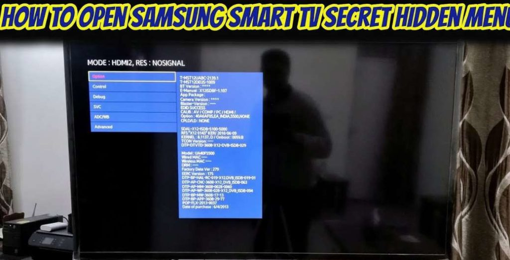 samsung Smart tv secret menu