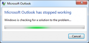 Outlook 2010 Not Responding: