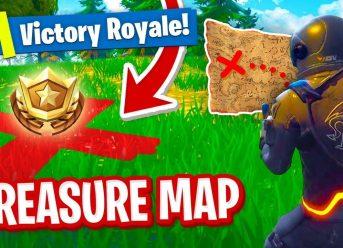 Follow Treasure Map Signpost Paradise Palms
